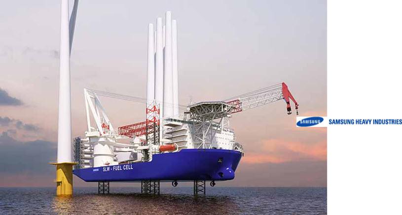 Samsung Heavy Wins Approval for its Wind Turbine Installation Vessel WTIV Design