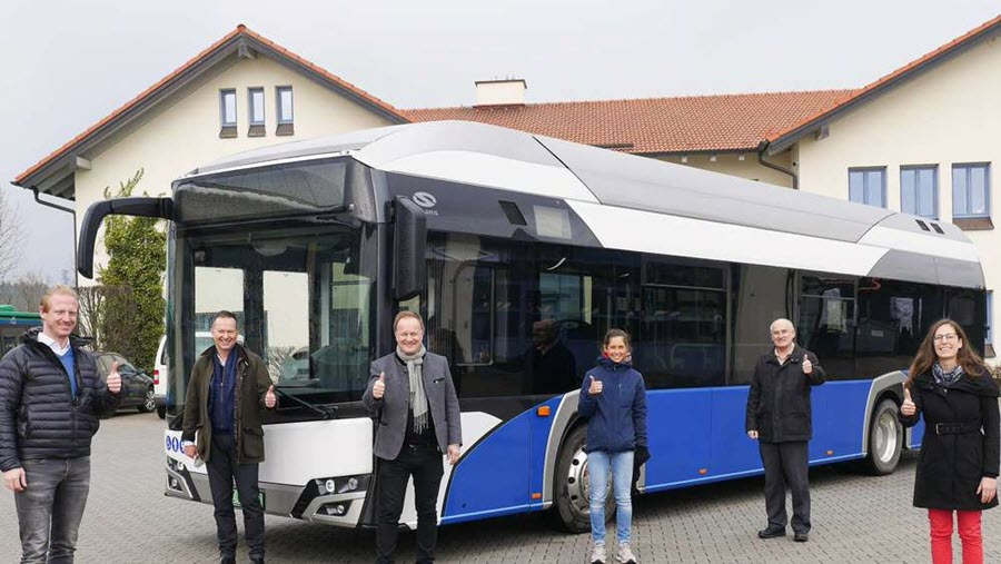 Fuel cells works, Testing of a Hydrogen Bus Is Underway in the Ebersberg District