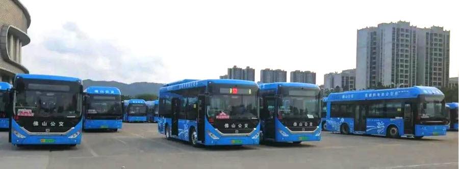 Fuel cells works, hydrogen, Vision HydraV, buses, fuel cells