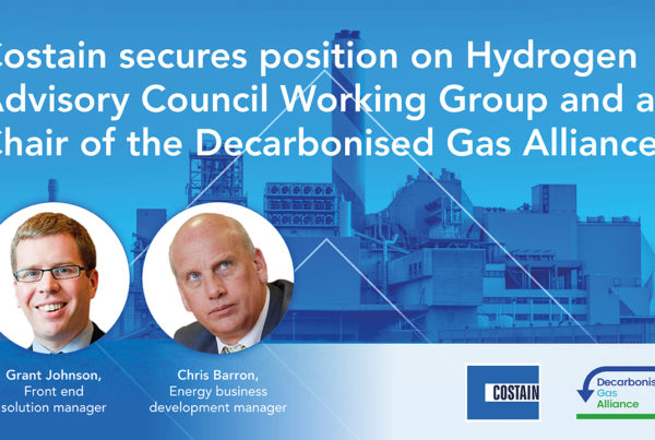 costain secures position on hydrogen advisory council working group and as chair of the decarbonised gas alliance