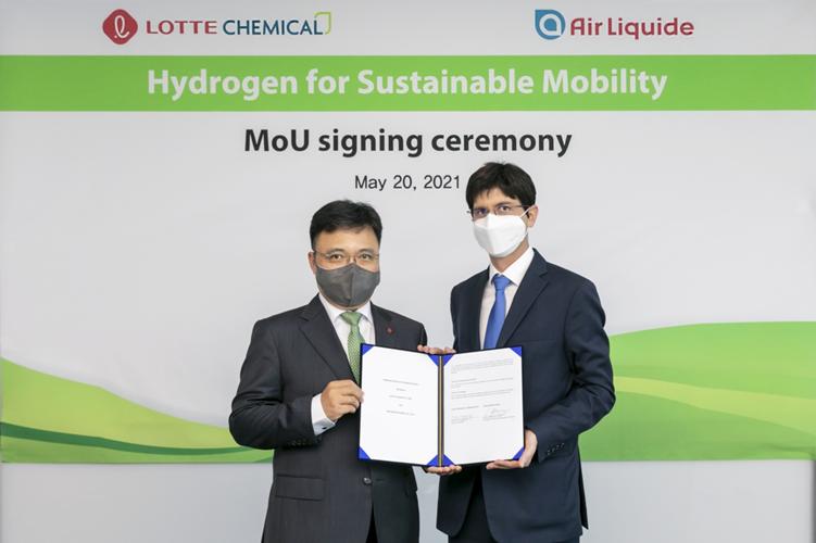 Fuel cells works, hydrogen, Air Liquide, lotte, korea, fuel cells