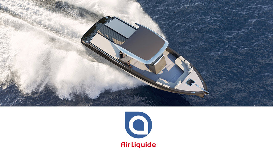 Fuel cells works, Air Liquide, Official Supplier of Renewable Hydrogen to HYNOVA for the Sea Show 2021
