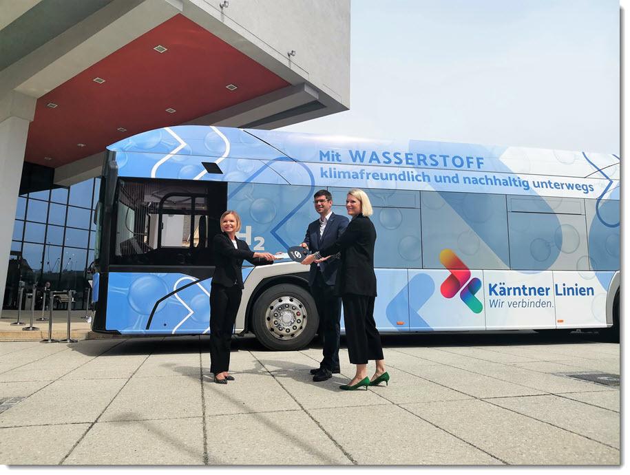 Fuel cells works, hydrogen, Austria, buses, solaris, fuel cells