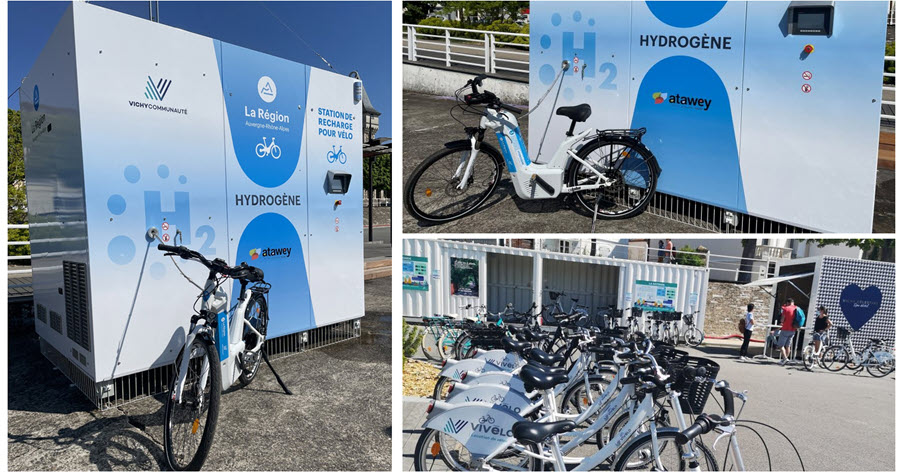 Auvergne Rhone Alpes Region Inaugurates a Hydrogen Station for Bikes