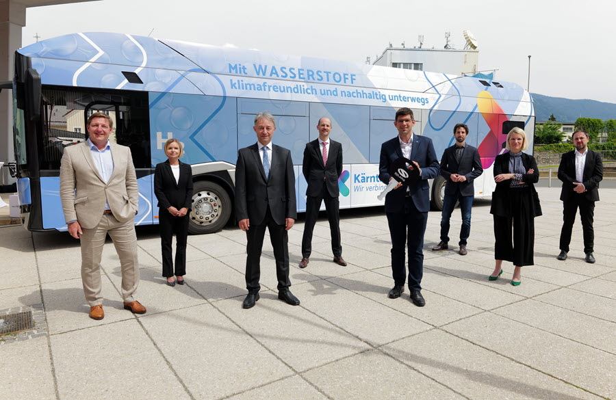 Fuel cells works, hydrogen, Carinthia, business cards, bus, fuel cells