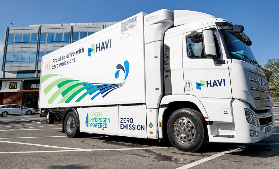 Fuel cells works, hydrogen, green hydrogen, havi, McDonalds