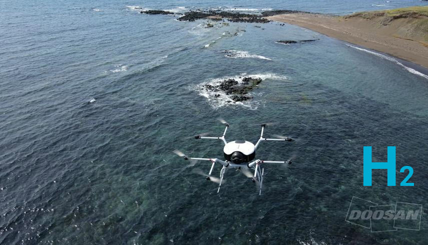 Fuel cells works, hydrogen, Doosan Mobility Innovation, drone