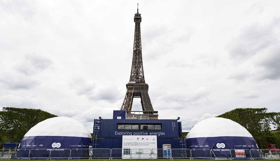 Fuel cells works, hydrogen, Eiffel Tower, energy, fuel cells