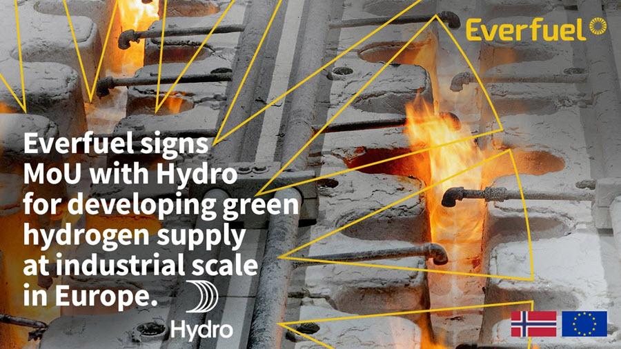 Fuel cells works, hydrogen, hydro, everfuel, MOU, fuel cells