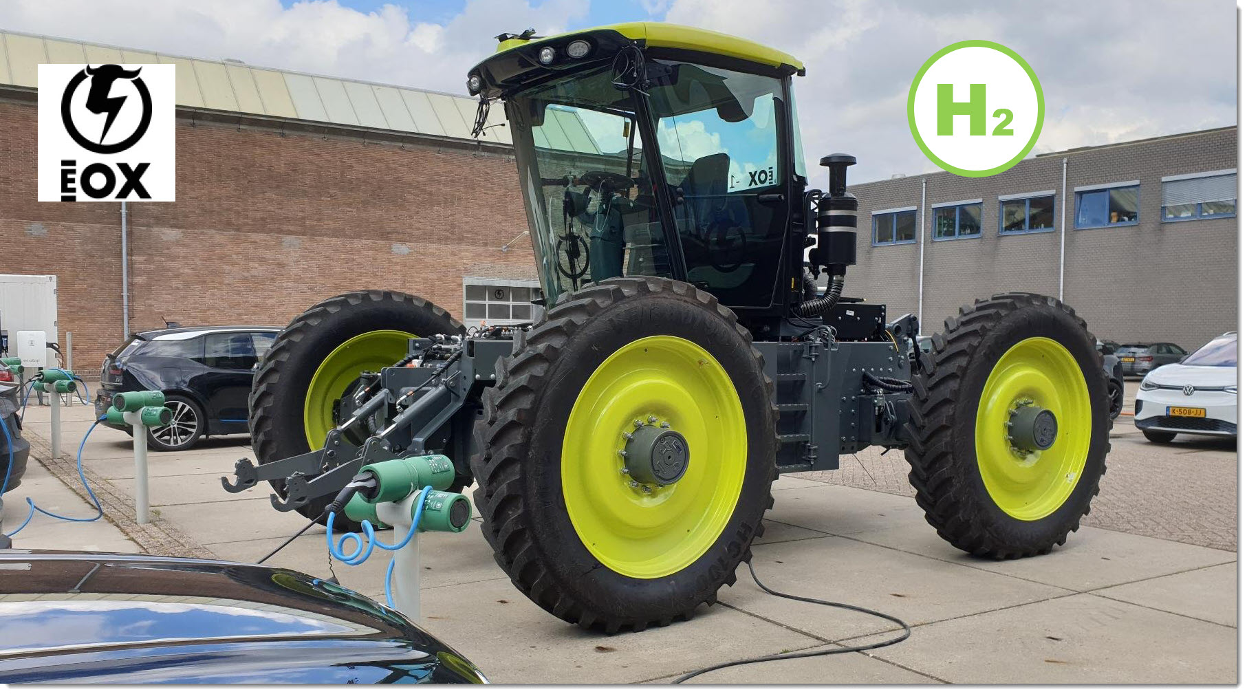 fuel cells works, First 100% Hydrogen EOX Electric Tractor Sold By H2trac