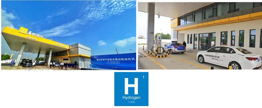 Fuel cells works, China: First Combined Gas and Hydrogen Station in Jiangsu Province Put into Operation in Wuxi