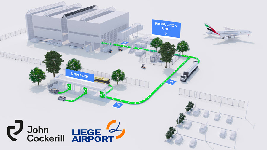 Green light for HaYrport%C2%AE the 100 clean eco mobility project of John Cockerill and Liege Airport