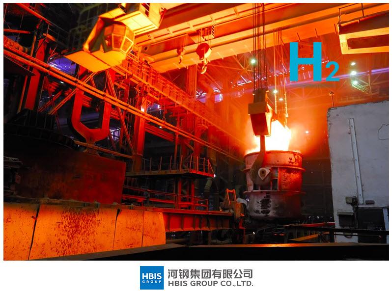 Fuel cells works, hebei iron, hydrogen, steel group, h2