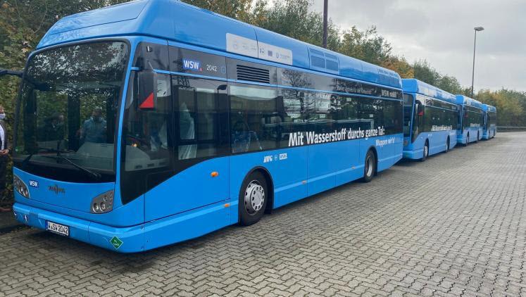 fuel cells works, hydrogen, Environment Minister, buses, wuppertaler
