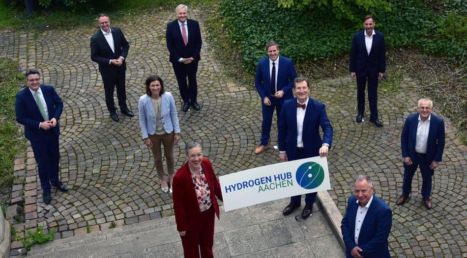 Fuel cells works, hydrogen, Hydrogen Hub, Aachen