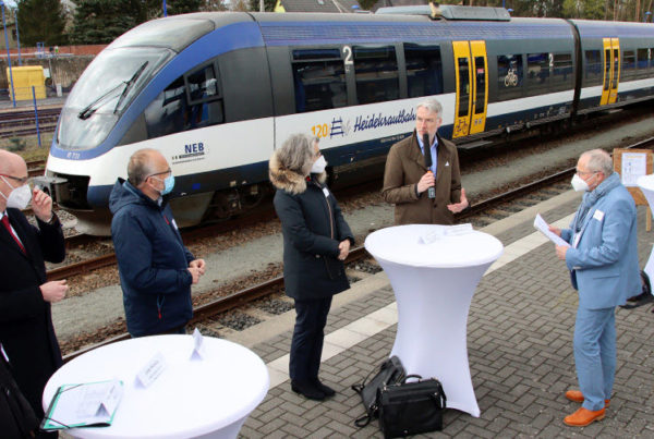 Fuel cells works, hydrogen, Heidekrautbahn, Trains