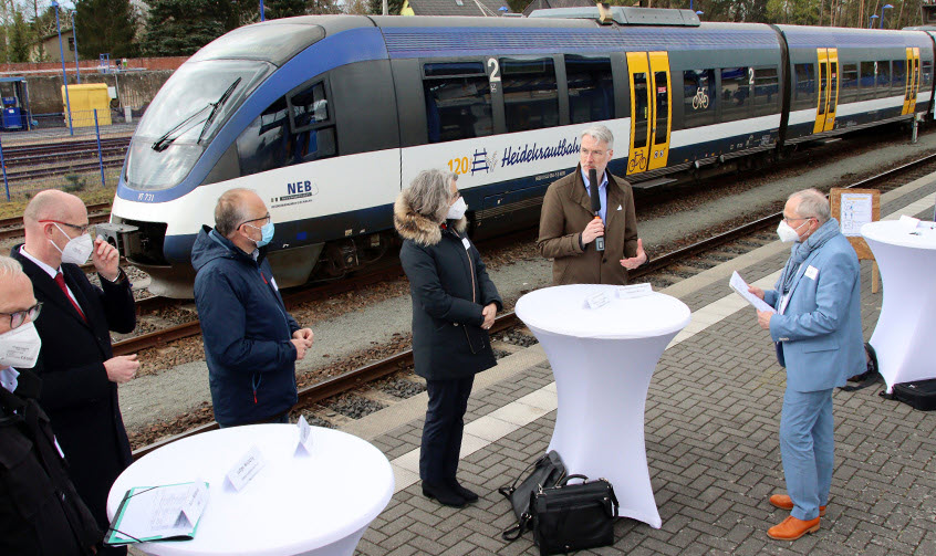 Fuel cells works, hydrogen, Heidekrautbahn, Trains