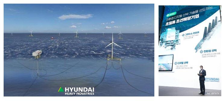 Fuel cells works, hydrogen, Hyundai Heavy, green, sea, fuel cells