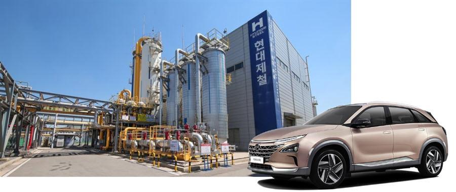 Fuel cells works, hydrogen, Hyundai Steel, fuel cells