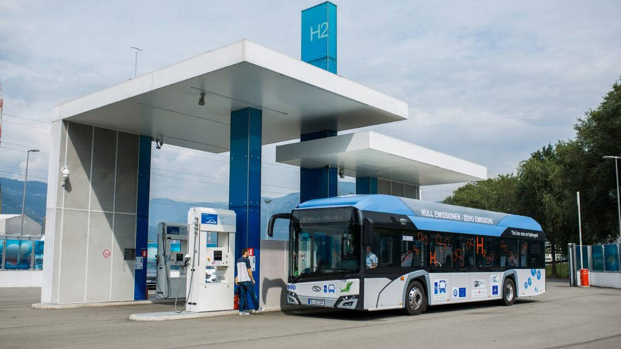 Fuel cells works, hydrogen, bolzano, buses