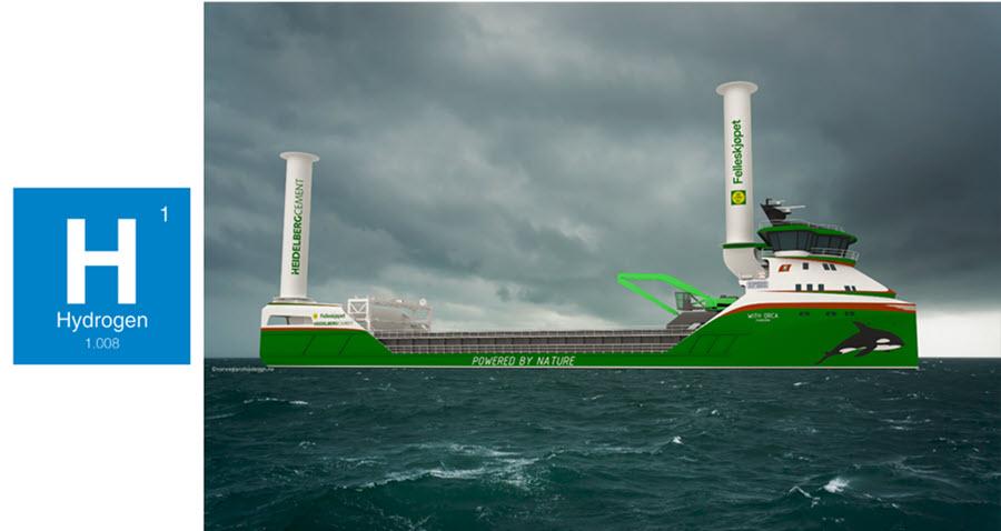 Fuel cells works, hydrogen, norwegian, ship, desing