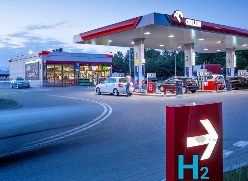 Fuel cells works, hydrogen, orlen, fuel cells, station