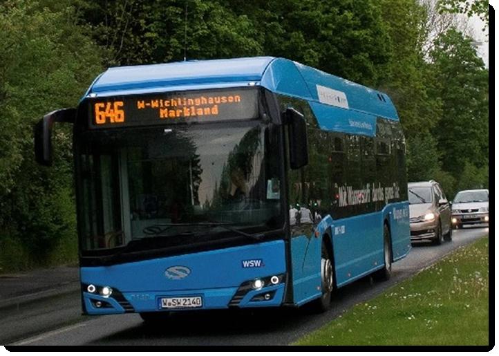 fuel cells works, h2, hydrogen bus, Wuppertal