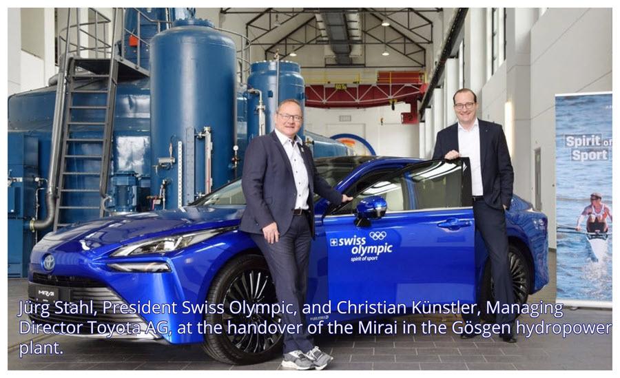 Fuel cells works, hydrogen, Swiss Olympic, toyota, mirai, fuel cells