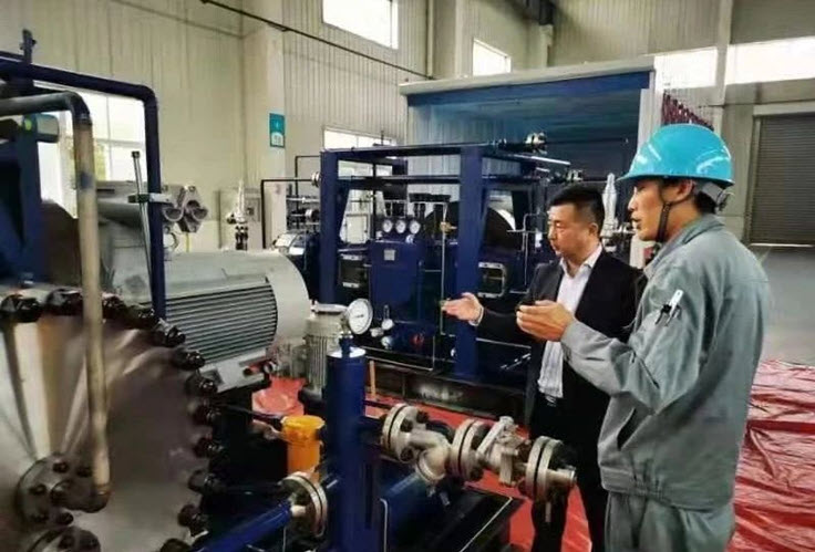 The First Batch of High pressure Hydrogen Diaphragm Compressors for the Beijing Winter Olympics Roll of the Assembly Line
