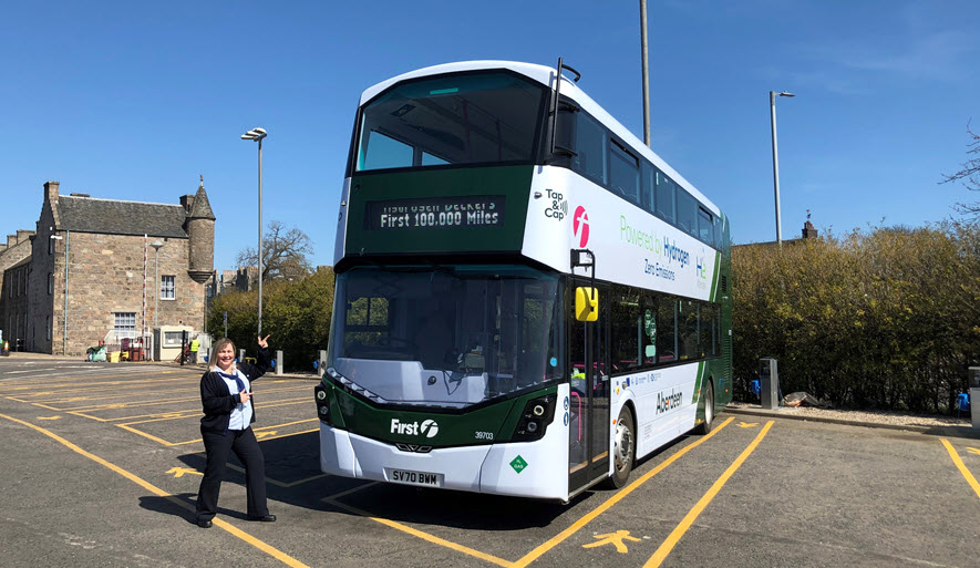 Wrightbus Hydrogen Bus Fleet Hits 100000 Milestone Saving 170000kg of CO2