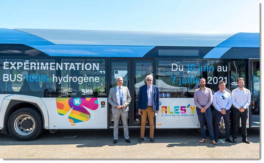 Fuel cells works, France: A Hydrogen Bus Being Tested on the Ales'Y Lines