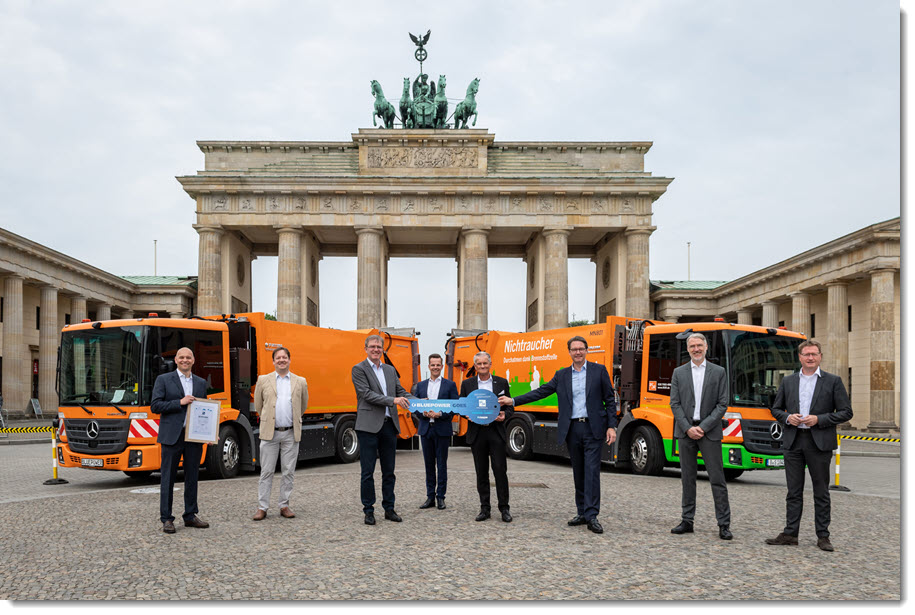 Fuel cells works, Berlin: BSR Receives First 2 of 14 Hydrogen Fuel Cell Waste Collection Trucks