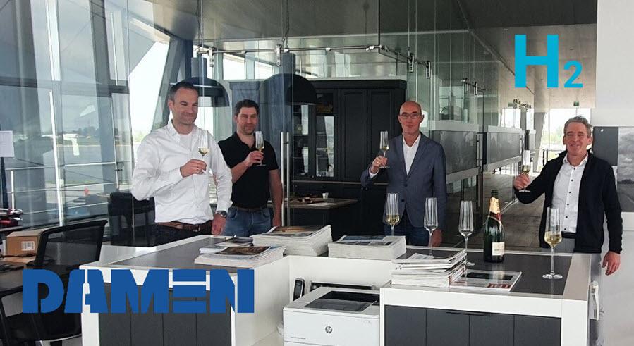 Fuel cells works, Concordia Damen Signs Historic Contract With Lenten Scheepvaart for First Ever Inland Hydrogen Vessel