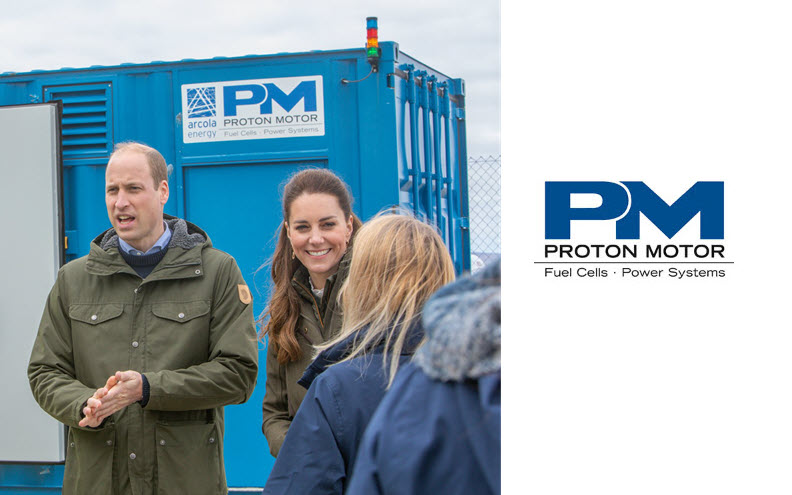 Fuel cells works, Duke and Duchess of Cambridge visit Proton Motor Fuel Cell Power Plant in Orkney