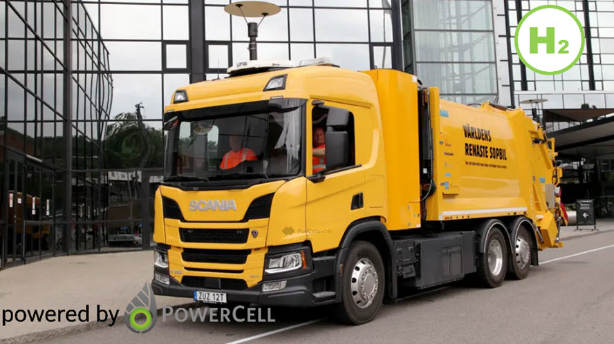 Fuel cells works, First Hydrogen Garbage Truck Deploys in Sweden With Powercell Fuel Cell Technology