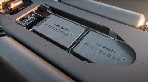 Gaussin skateboard battery image microvast