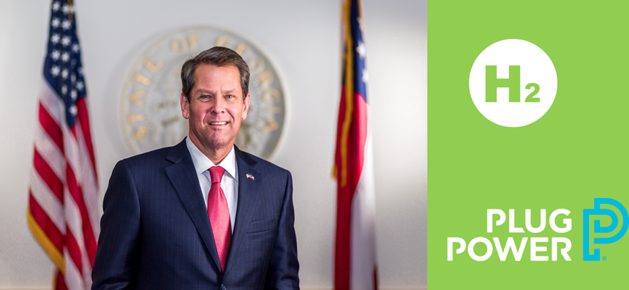 Fuel cells works, Gov. Kemp Announces Plug Power Opening Green Manufacturing Plant in Camden County