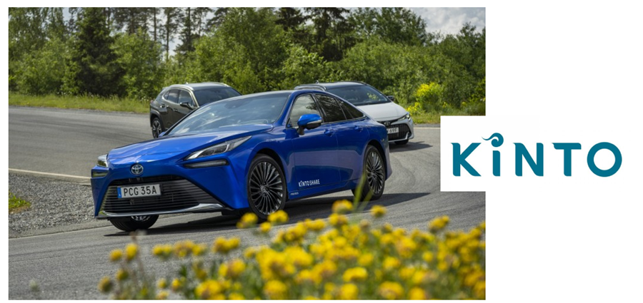fuel cells works, KINTO Introduces All-New Hydrogen Fuel Cell Toyota Mirai for Car-Sharing services in Sweden