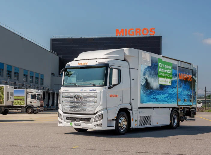 Fuel cells works, Migros Luzern Loves Hydrogen: Soon a hydrogen truck will be delivering fresh groceries