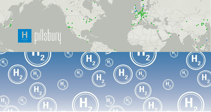 Fuel cells works, Pillsbury Launches Innovative Hydrogen Map Tracking Hydrogen Projects Globally