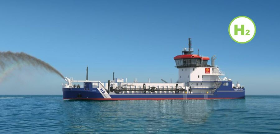 Fuel cells works, Piriou Builds Dredgers Powered by Hydrogen Fuel Cells for the Occitanie