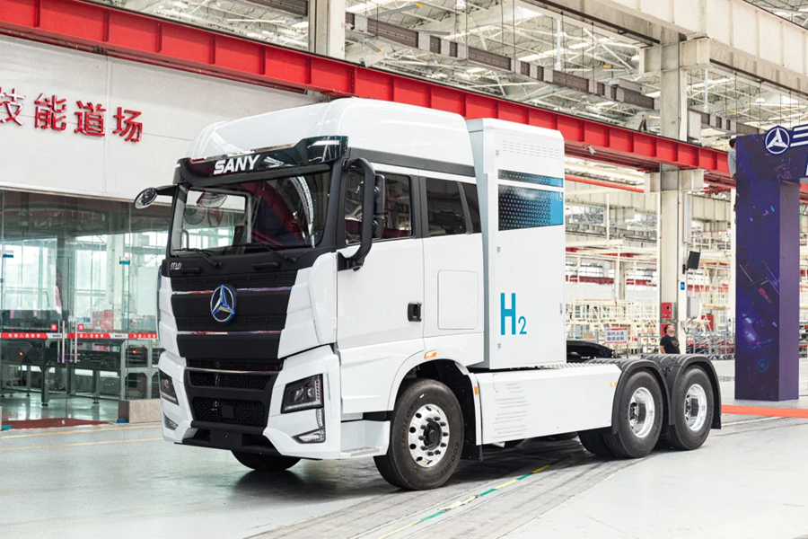 Fuel cells works, Sany's First Hydrogen Fuel Heavy Truck Rolls Off the Assembly Line