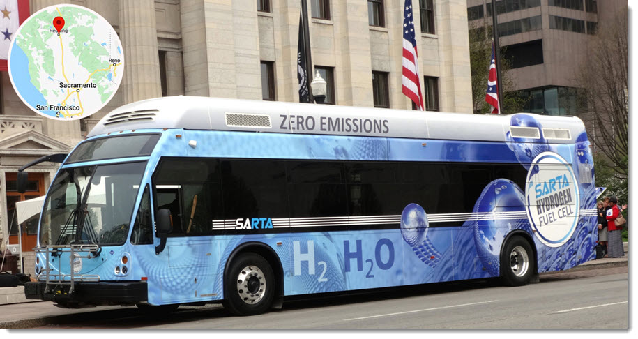 Fuel cells works, hydrogen, SARTA's 'Borrow A Bus Zero-Emissions Tour' Embarks On Week-Long, Eight-Stop Swing Through California