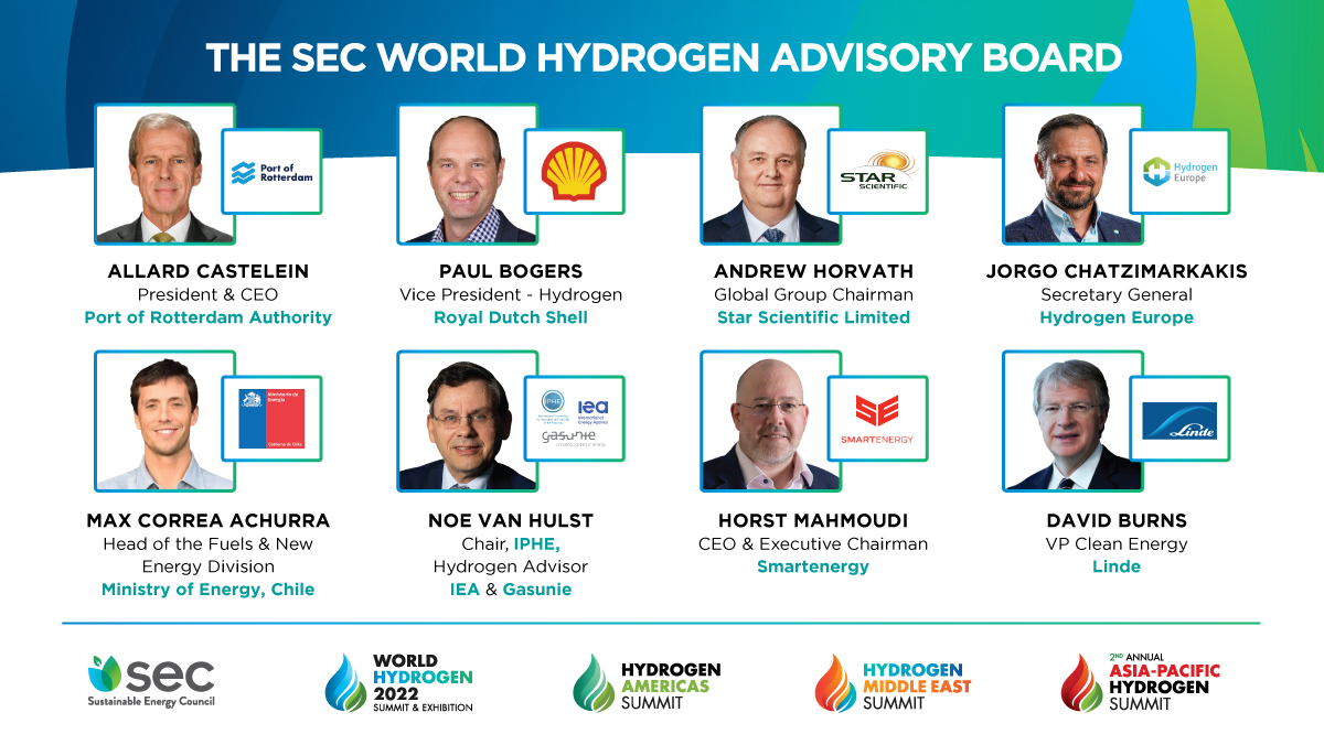 Fuel cells works, Sustainable Energy Council Announces World Hydrogen Advisory Board Of Industry Leaders