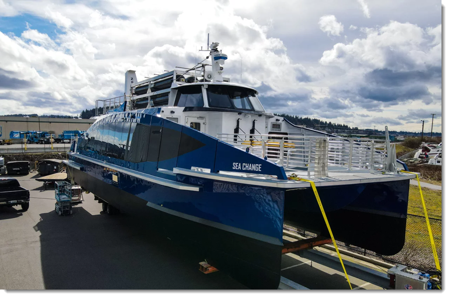 Fuel cells works, hydrogen, Sea Change, ferry, fuel cell