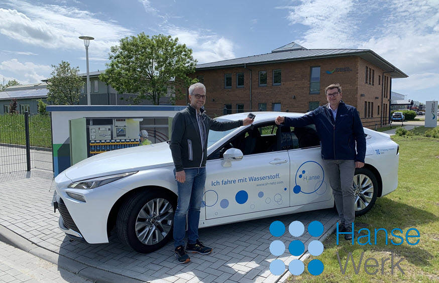 Fuel cells works, The First Hydrogen Vehicle in the SH Netz Fleet Is in the North Friesland District