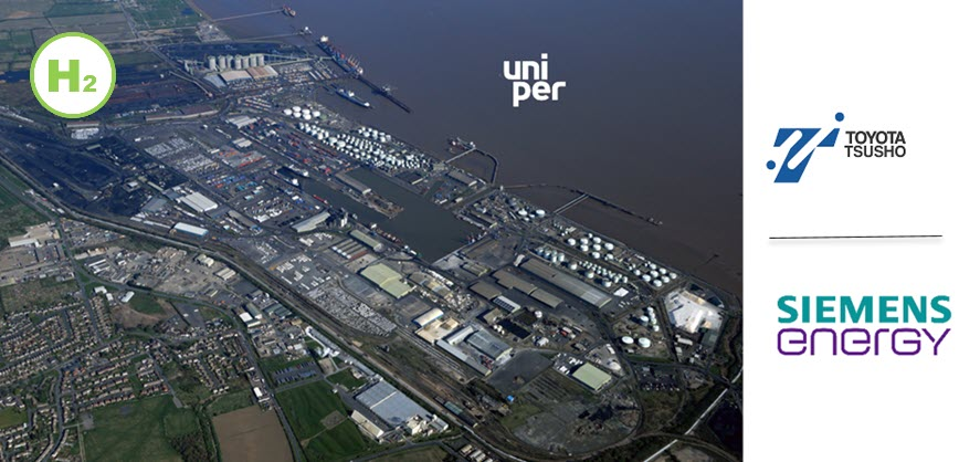 Fuel cells works, Uniper, Siemens Energy, Toyota Tsusho And Associated British Ports Submit Joint Funding Bid For Decarbonising The Port Of Immingham