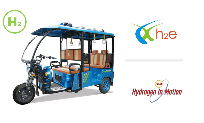 Fuel cells works, h2e Power Systems to Develop Hydrogen-Fueled Three-Wheelers in India