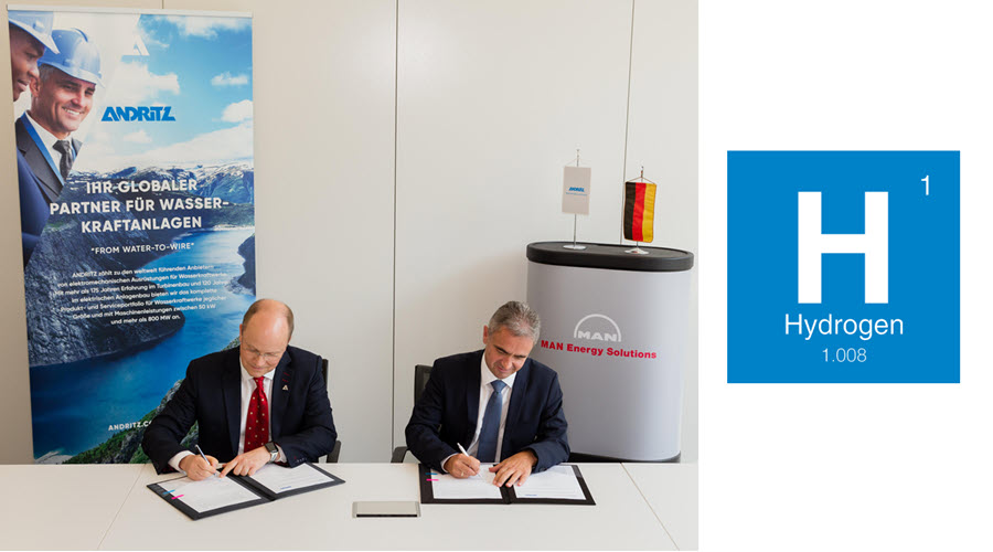 Fuel Cells Works, ANDRITZ Hydro and MAN Energy Solutions Agree on Hydrogen Cooperation