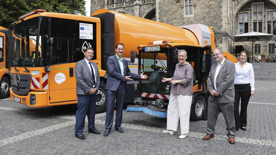 Fuel Cells Works, Aachen Puts Two Hydrogen Vehicles into Operation for Waste Collection